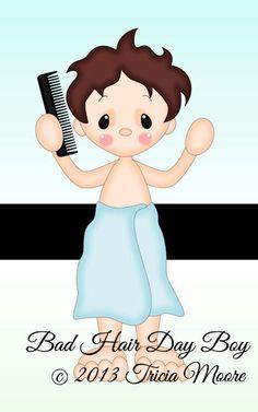 Bad Hair Day Boy www.littlescrapsofheavendesigns.com