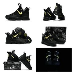 designer fashion 75200 e76d4 ... Newest And Cheapest LeBron 14 XIV Black Gold 2017 Lebron James Shoes  Glow In The Dark Check out LeBron James8217 Glowinthedark AllStar ...