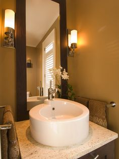 Powder Room Long Thin Sconces Design, Pictures, Remodel, Decor and Ideas