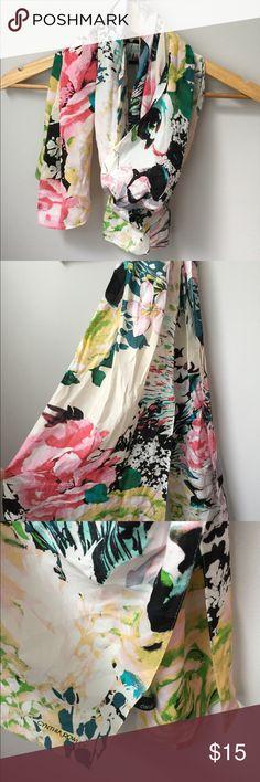 Cynthia Rowley Floral Scarf Cynthia Rowley Floral Scarf NWOT. Never worn. No flaws. Cynthia Rowley Accessories Scarves & Wraps