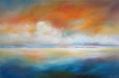 """Original art for sale at UGallery.com   Distant Dunes by Nancy Hughes Miller   $1,225   oil painting   24"""" h x 36"""" w   http://www.ugallery.com/oil-painting-distant-dunes"""