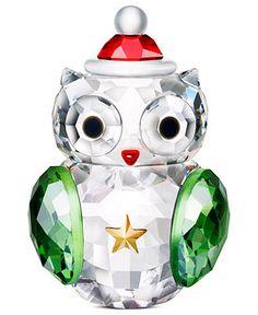 Swarovski Collectible Figurine, Rocking Owl - All Christmas Ornaments - Holiday Lane - Macy's