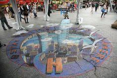 Brisbane art by Julian Beever