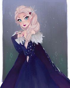 Elsa com seu vestido de natal, linda *0*