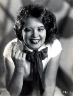 """Clara Bow - 20s """"It"""" girl, she's one of the few leading ladies of that era that look like a modern person. Her features are timelessly cute, though I doubt she'd be a model or a great beauty in 2015, there's something universally attractive about her. She could definitely be the pretty girl next door."""