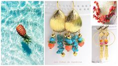 bijoux été 2017 Les Créas de Sandrine Artisanal, Drop Earrings, Jewelry, Jewelry Designer, Fantasy, Jewlery, Jewerly, Schmuck, Drop Earring
