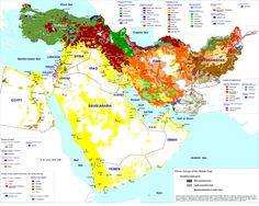 language map of the middle east