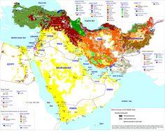 Mapa de los grupos étnicos del Oriente Medio | Biblioteca Virtual Judía