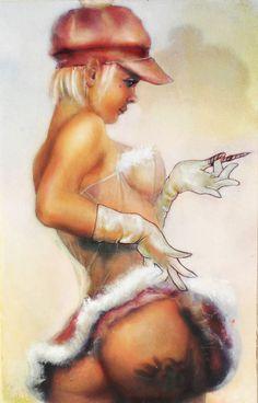 art by Aubrey Mennella aubme.com ig: @aubreymennella pinup oil painting