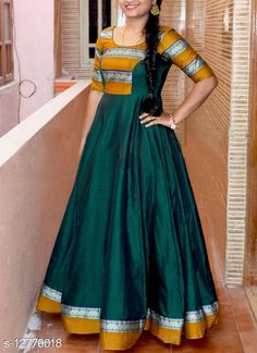Indian Gowns Dresses, Indian Fashion Dresses, Long Frocks For Girls, Model Rok, Long Gown Design, Frock Models, Sleeves Designs For Dresses, Dresses With Sleeves, Frock Patterns