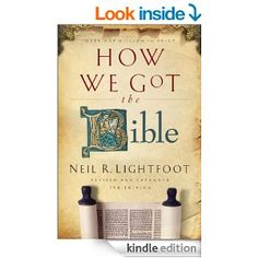 How We Got the Bible on sale now! this post contains affiliate links How We Got the Bible How and when did the books of the Bible originate? In what sense are these books different from other books? How have these books been preserved and transmitted… Bible 2, Bible Translations, Kindle, Christian, Learning, My Love, Homeschooling, Books, Depression