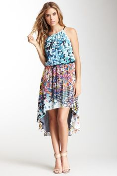In The Sun Belted Silk Print Dress by Nicole Miller on @HauteLook