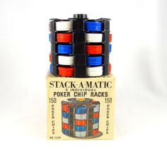 Hey, I found this really awesome Etsy listing at https://www.etsy.com/listing/261992623/stack-a-matic-poker-chip-racks-from