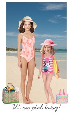 """""""We are pink for another day on the beach!"""" by alleypea ❤ liked on Polyvore featuring art"""