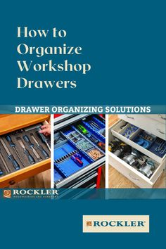 What is the best drawer organization system? That depends on what your storing in the drawer. In this Rockler demonstration you'll learn three solutions that will help you organize your drawers. We'll show you two drawer insert options and a way to capture wasted space in deep drawers. #CreateWithConfidence #ShopOrganization #DrawerOrganizers #LockAlign #DrawerOrganizationSystem Rockler Woodworking, Cool Woodworking Projects, Learn Woodworking, Woodworking Videos, Drawer Inserts, Workshop Organization, Drawer Organisers, Organize, Drawers