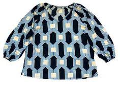 My Island Home - Blouson Sleeve Top - pavillions blue