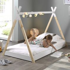 Discover recipes, home ideas, style inspiration and other ideas to try. Toddler Bed With Storage, Toddler Floor Bed, Diy Toddler Bed, Bed Rails For Toddlers, Kids Room Bed, Girl Room, Baby Bedroom, Girls Bedroom, Bedroom Ideas