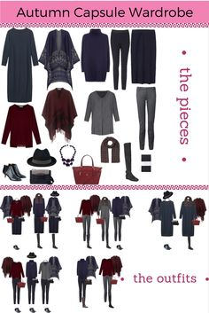 How to create an Autumn capsule wardrobe- great guide to knowing what you need!