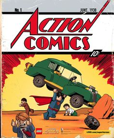 We're loving this LEGO version of the cover of Action Comics #1! | LEGO