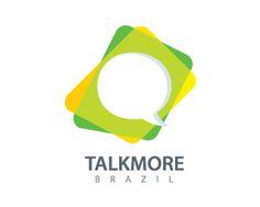 """Talk More Brazil Logo design - O logo """"Talk More Brazil"""" é indicado para ser utilizado principalmente na área de comunicação. Ele tem como base a bandeira do Brasil. Porém pode ser utilizado em outras áreas, conforme achar ideal. Price $280.00"""