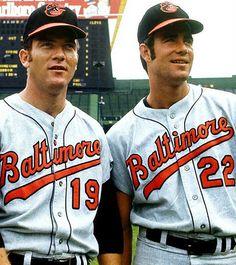 Dave McNally and Jim Palmer Baltimore Orioles Baseball, Baseball Star, Cleveland Baseball, Baseball Guys, Baseball Live, Baseball Cards, Football, Baseball Uniforms, T Shirts