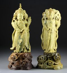 Antique Carved Soapstone Figures