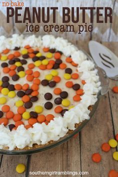 No-Bake Peanut Butter Ice Cream Pie