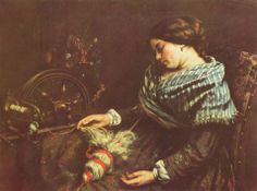 Gustave Courbet (1819-1877): The Sleeping Spinner, 1853