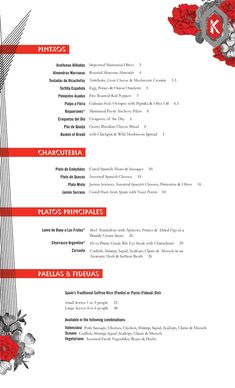 Art of the Menu: Kika Tapas