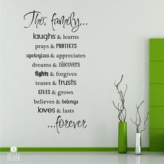 Family Rules Wall Decals Quote - Vinyl Text Wall Words via Etsy