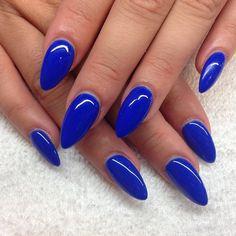 bright nails, bold colors, blue nail polish, blue nails