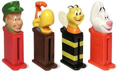 Pez Dispensers, I loved these, even though the artificially flavored candy isn't that tasty.