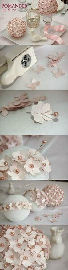 DIY flower pomander