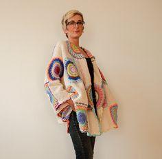 Talla grande Cardigan suéter Beige mujer con por subrosa123 en Etsy