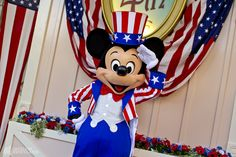 Mickey greeted guests last week in his patriotic finest for the Fourth of July!