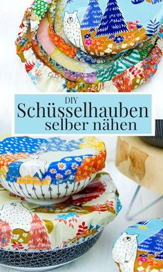 Practical DIY bowl cover (bowl cap) sew yourself, For the next party or as a great gift: DIY bowl covers for salad or dessert bowls. Upcycled Crafts, Sewing Crafts, Diy Clothes Kimono, Techniques Textiles, Crafts To Sell, Diy And Crafts, Tapas, Diy Gifts, Great Gifts