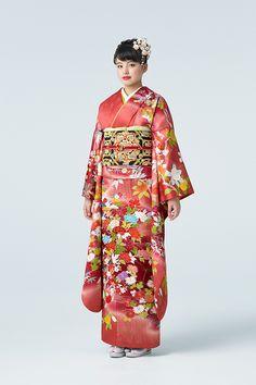 振袖華映780,000円(税抜) 袋帯彩美蜀江580,000円(税抜) Japanese Costume, Japanese Kimono, Traditional Japanese, Traditional Dresses, Japanese Characters, Japanese Outfits, Folk Costume, Yukata, Costumes For Women