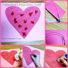 Valentine's Day Fine Motor Craft - Pinned by @PediaStaff – Please Visit  ht.ly/63sNt for all our pediatric therapy pins
