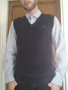 Men's Medium sized Blue Tanktop/Shirt in one - Next   eBay