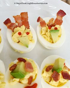Bacon Avocado Deviled Eggs are a fun twist on a classic!         Welcome to the first Fantastical Food Fight !!     In FFF, participants are...