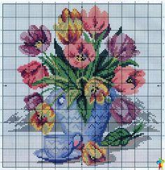 Stylowa kolekcja inspiracji z kategorii Hobby Cute Cross Stitch, Cross Stitch Flowers, Cross Stitch Charts, Cross Stitch Designs, Cross Stitch Patterns, Cross Stitching, Cross Stitch Embroidery, Cross Stitch Landscape, Cross Stitch Kitchen