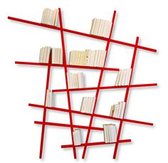 Mikado bookshelves Red!