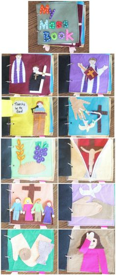 Create your own MASS QUIET BOOK for your children with this complete pattern and instructions.  Each page will pull your child into quiet, meaningful play while these learn about their Catholic Faith.  Click through for details on how to get the complete pattern!