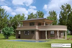 Contemporary 4 Bedroom House Plan - ID 24301 - Building Plans by Maramani Two Story House Plans, Simple House Plans, Beach House Plans, Dream House Plans, Modern House Plans, 4 Bedroom House Designs, Three Bedroom House Plan, Duplex House Plans, Luxury House Plans