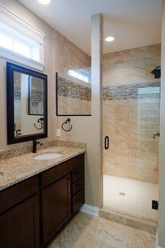 Natural light fills this bathroom. Cobblestone Bathroom, CM13. Follow the link for the full home photo gallery.