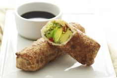 Avocado Eggrolls recipe - vegan of course
