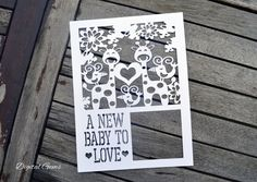 Papercut Giraffe and Bird Template, A New Baby To Love SVG File, and PDF Printable File, Instant Download, Small Commercial Use OK by DigitalGems on Etsy