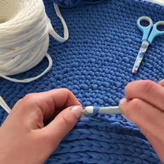 Crochet Rug Tutorial, Carpet Pattern, Blue Rug Master Class, Carpet DIY, Baby room decor