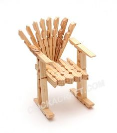 clothespin doll chair, non-traditional