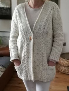 cardigan knitting project by Rimma S